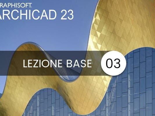 archicad 23 lezione base 03